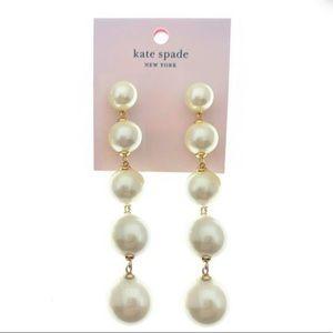 New Kate Spade pearls linear statement earring
